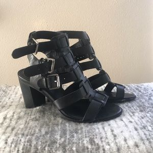 Black Leather gladiator style heals